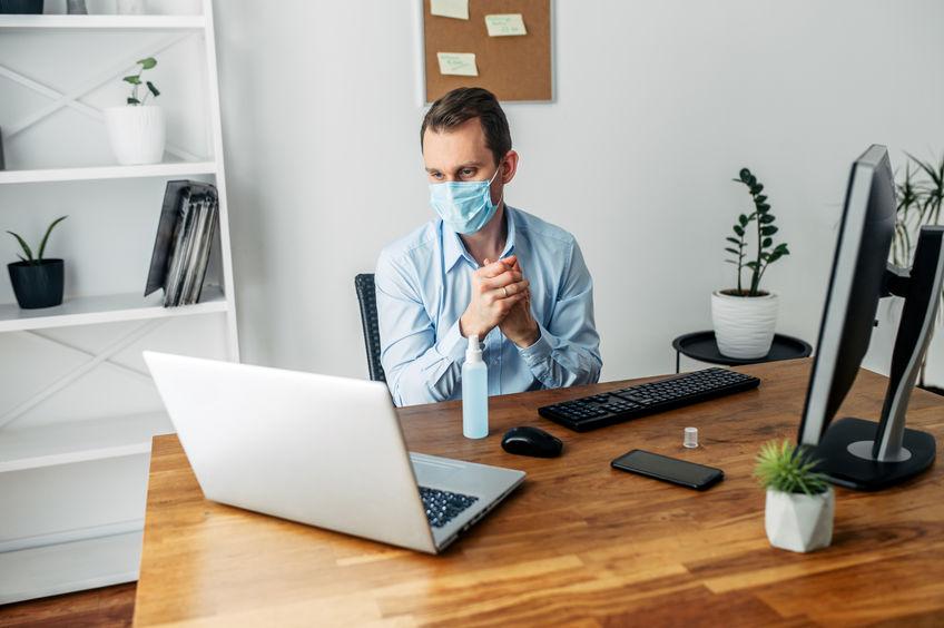 Coronavirus während der Arbeit